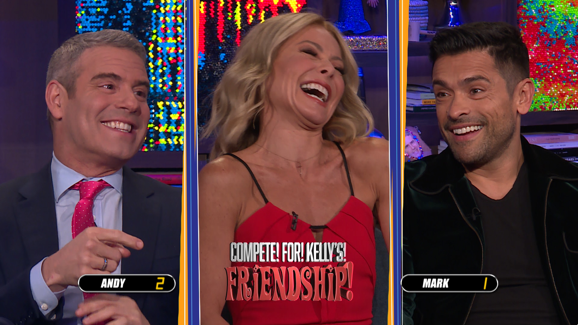 Andy Cohen & Mark Consuelos Compete for Kelly Ripa's Friendship
