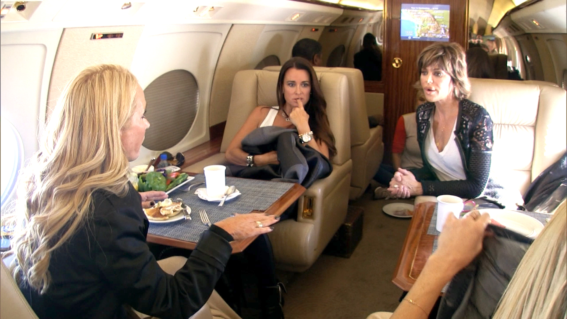 The Ladies Experience Some Plane Turbulence