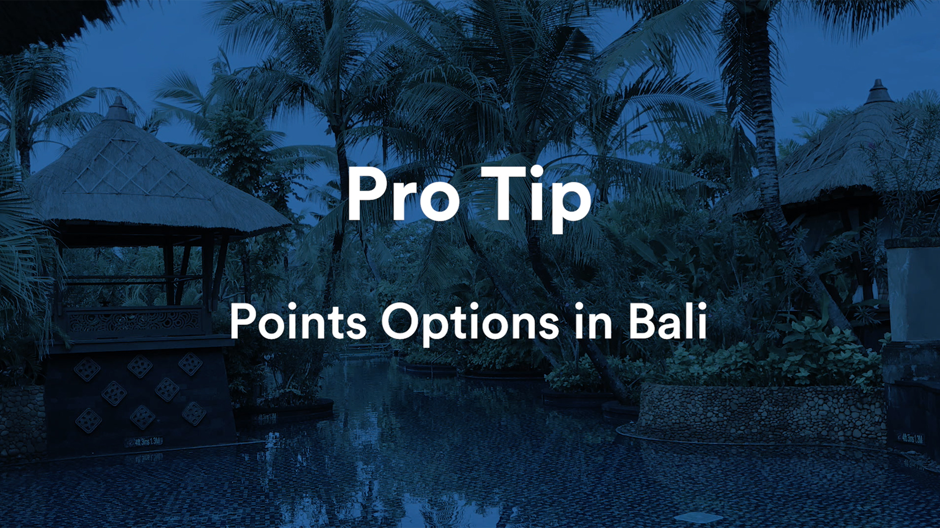Can I Really Do Five-Star Bali on Points?