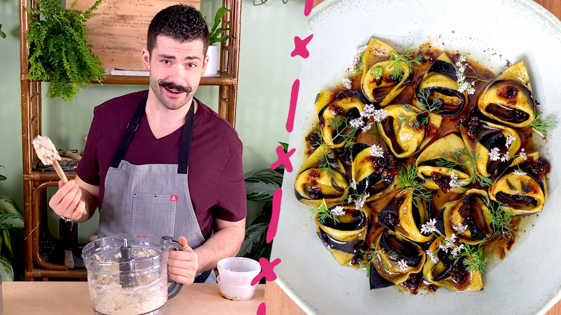 Joe Sasto's Spicy Crab-Stuffed Striped Tortelloni Is a Work of Art