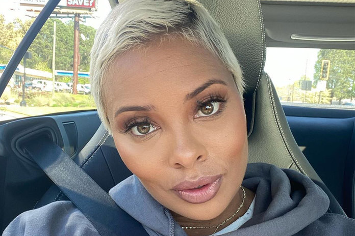 Eva Marcille Gets Long Platinum Braids With Beads Rhoa Style Living