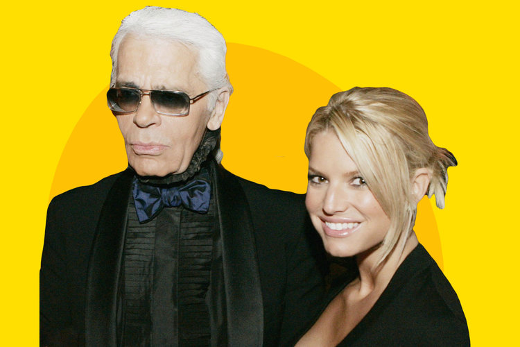 Jessica Simpson Instagram Tribute to Karl Lagerfeld: Diet Goals