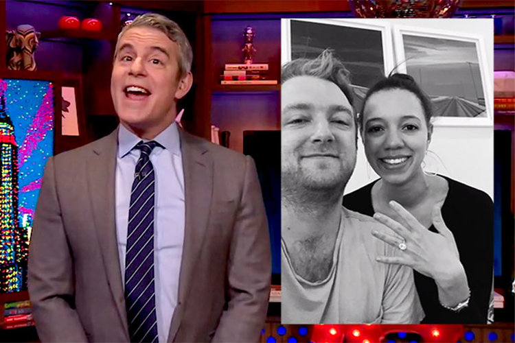 Andy Cohen, WWHL Superfan Proposal: Garrett and Annie