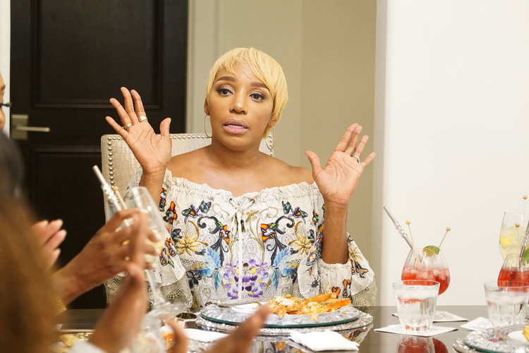 Nene Leakes in her home at the Bye Wig party in Season 11 of The Real Housewives of Atlanta.