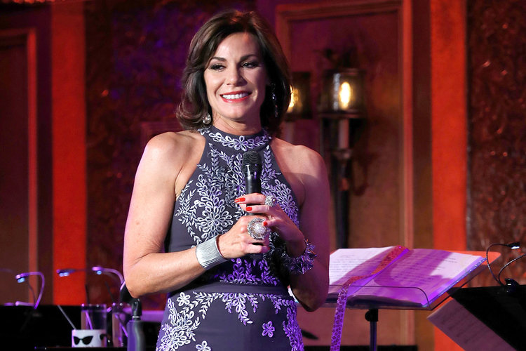 Luann de Lesseps performing her cabaret show at Feinstein's/54 Below