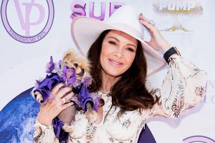 Lisa Vanderpump With Her Dog