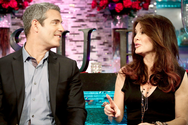Andy Cohen and Lisa Vanderpump at the Vanderpump Rules Reunion