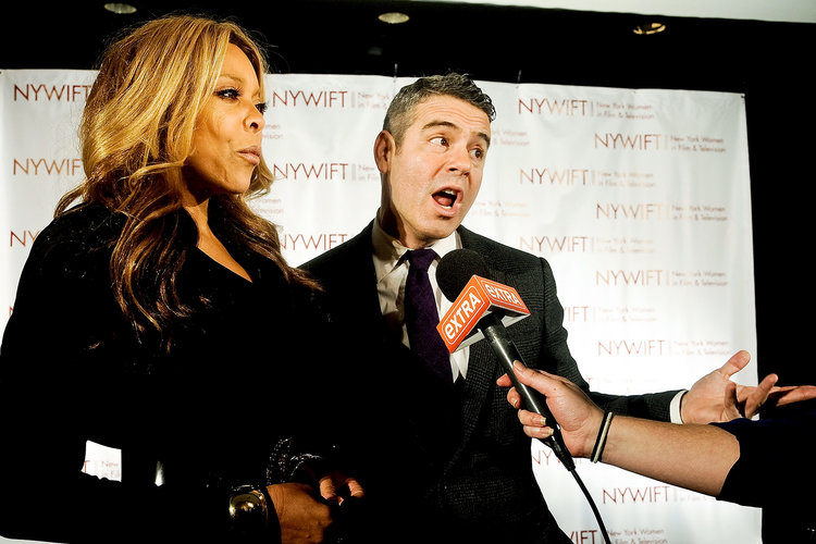 Andy Cohen and Wendy Williams