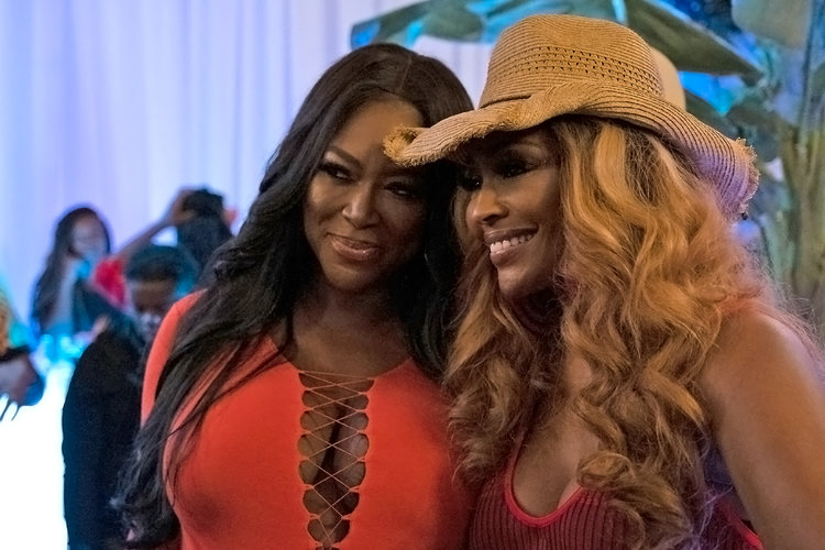 Kenya Moore and Cynthia Bailey in The Real Housewives of Atlanta Season 11 Finale