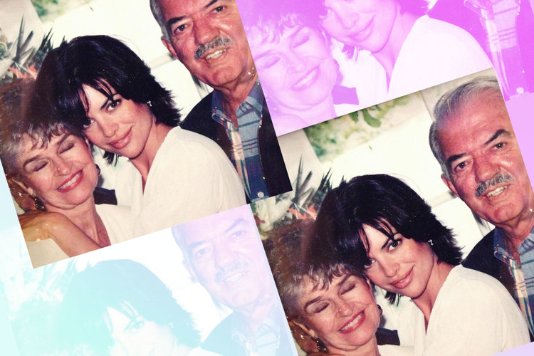 Lisa Rinna with Mother Lois and Father Frank