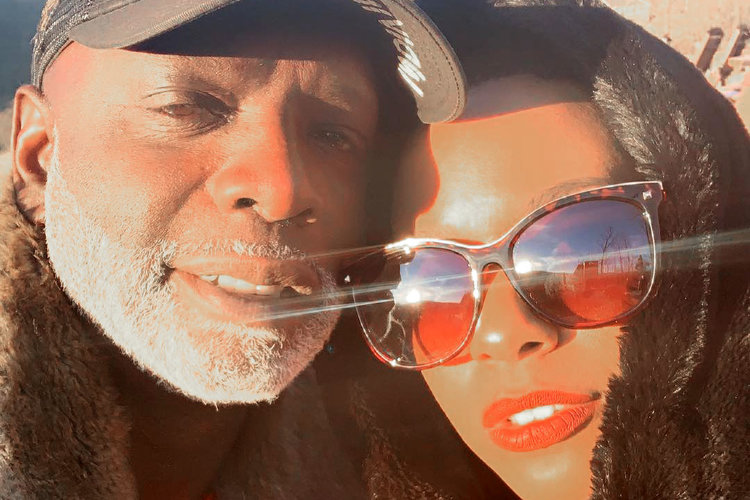 Peter Thomas with Girlfriend Toni