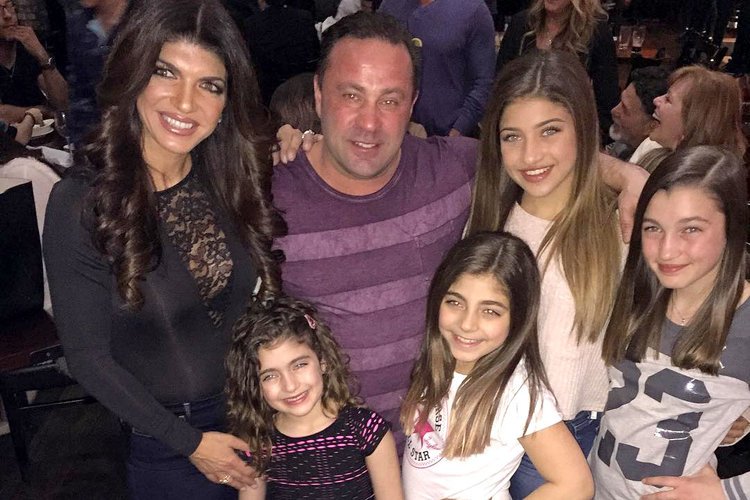 Teresa Giudice, Husband Joe Giudice, Daughters Gia, Gabriella, Milania, Audriana