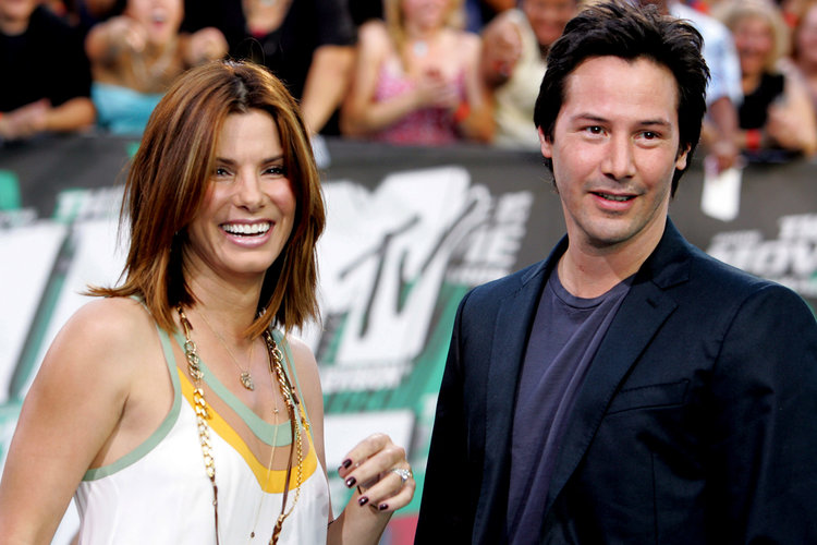 Sandra Bullock and Keanu Reeves