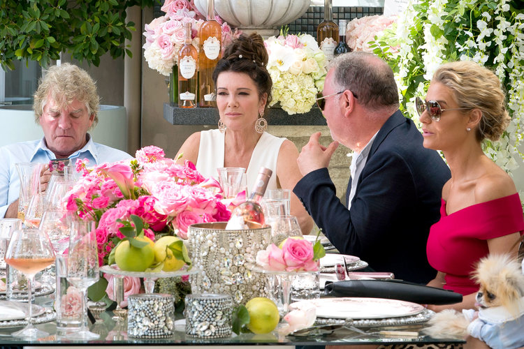 "Ken Todd, Lisa Vanderpump, Paul ""PK"" Kemsley, and Dorit Kemsley in The Real Housewives of Beverly Hills"