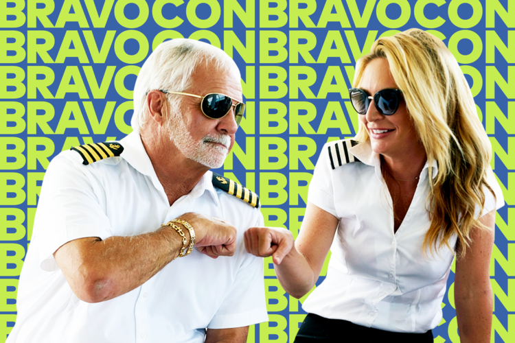 Captain Lee Rosbach and Kate Chastain BravoCon