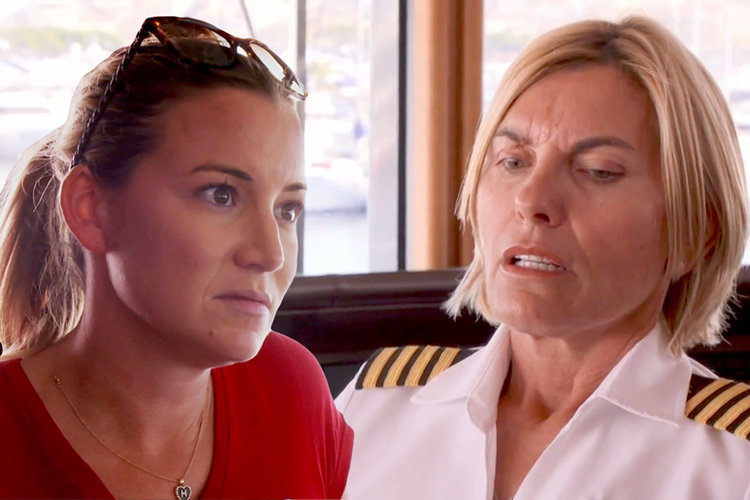 Hannah Ferrier, Captain Sandy Yawn in Below Deck Mediterranean