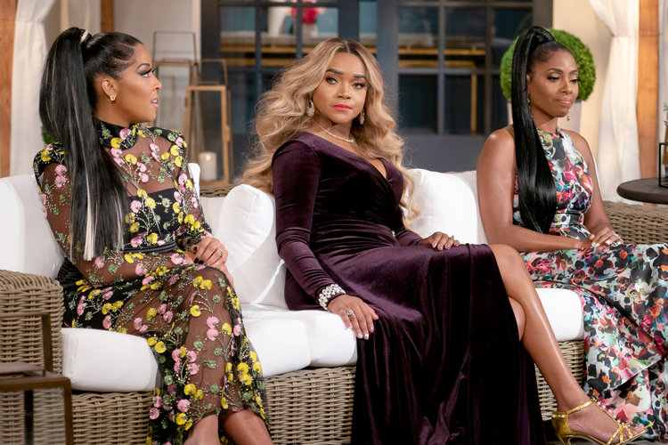 Toya Bush-Harris, Dr. Simone Whitmore, Mariah Huq at the Married to Medicine Season 6 Reunion