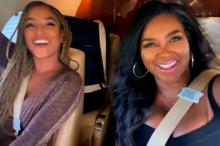 Kenya Moore Trip Private Jet