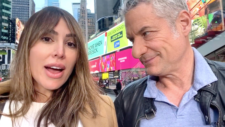 Kelly Dodd Visits Fiance Rick Leventhal at Work in Times Square Amid COVID-19 Crisis