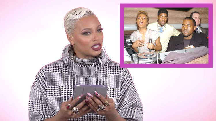 "Eva Marcille Looks at Photos of Her Partying with ""Young"" Kanye West ""a Long Time Ago"""