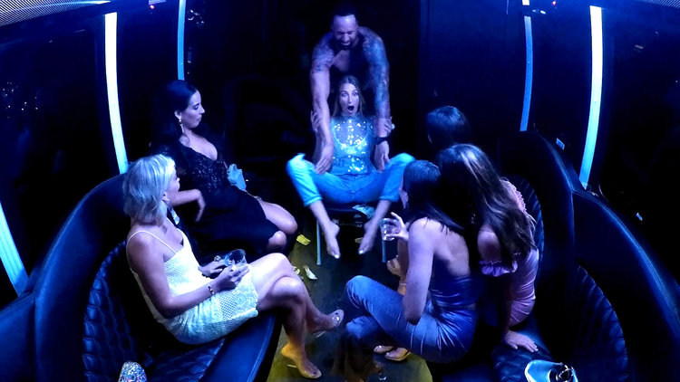 Amanda Batula Gets a Party Bus AND a Stripper Cop For Her Bachelorette Night