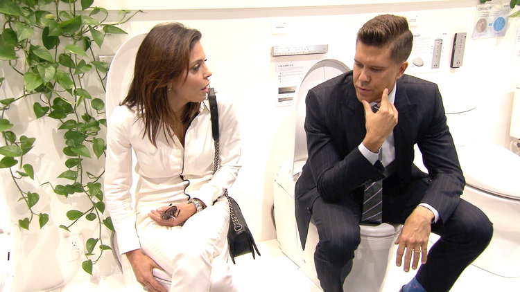 Bethenny Frankel Learns Why a Wall Hung Toilet is VIP