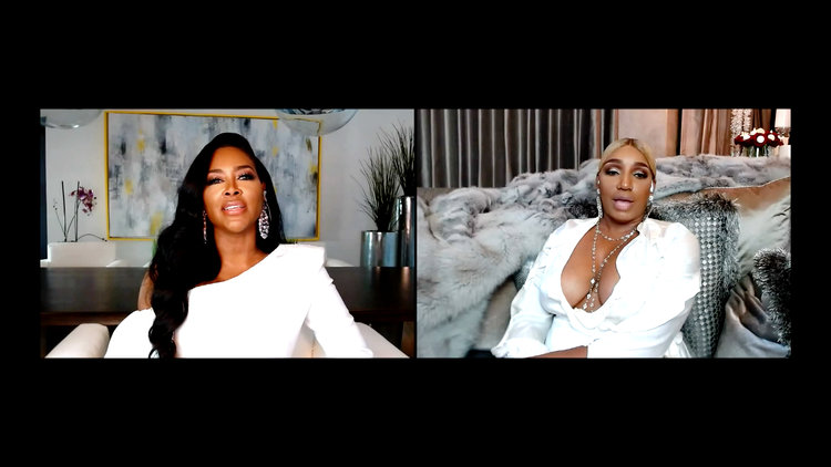 "Kenya Moore Accuses Gregg Leakes of ""Messing Around with the Help"""