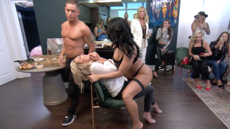 The Real Housewives of Orange County Get Surprise Lap Dances