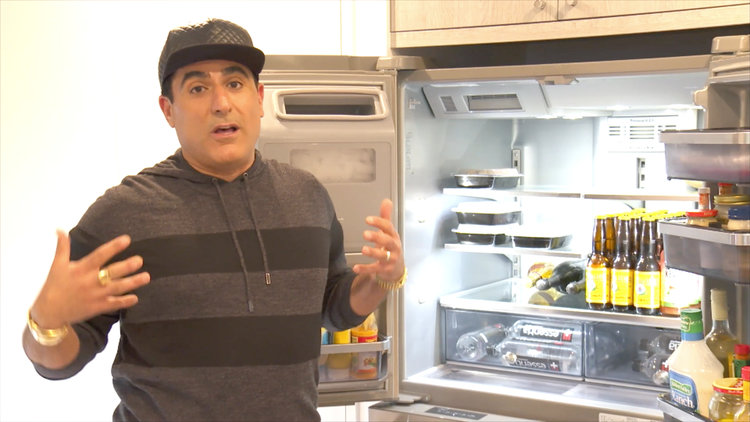 "Reza Farahan Says His Orderly Fridge Is ""As Neurotic as I Am"" During Video Tour"