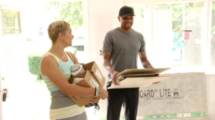 Robyn Dixon Shows Juan Dixon Her Latest Project