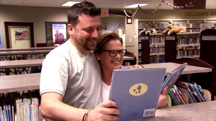 Chris Manzo Finds His Book at the Library