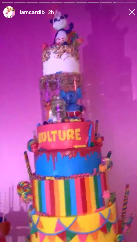 Cardi B And Offset Kulture Cephus 1st Birthday Cake Pics Style