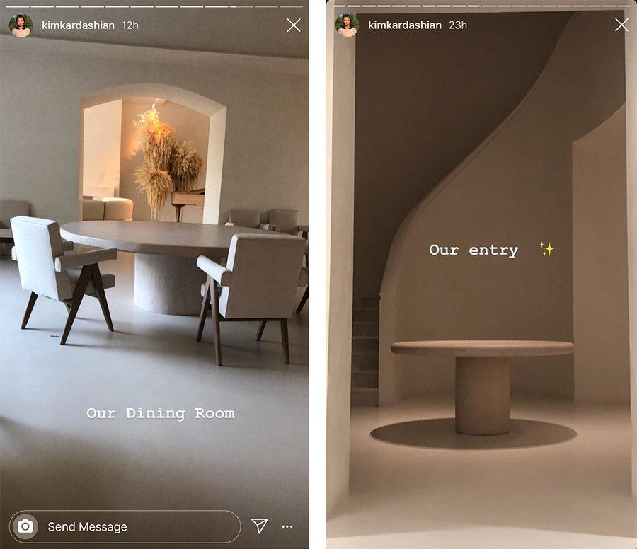 kim kardashian s neat dining room