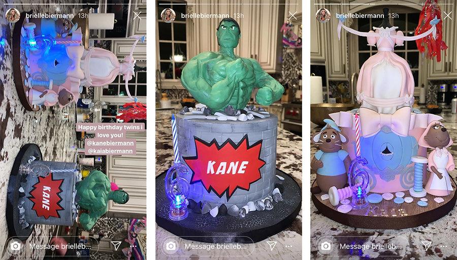 Phenomenal Kim Zolciak Biermanns Twins Kaia And Kane 6Th Birthday Cake Funny Birthday Cards Online Alyptdamsfinfo