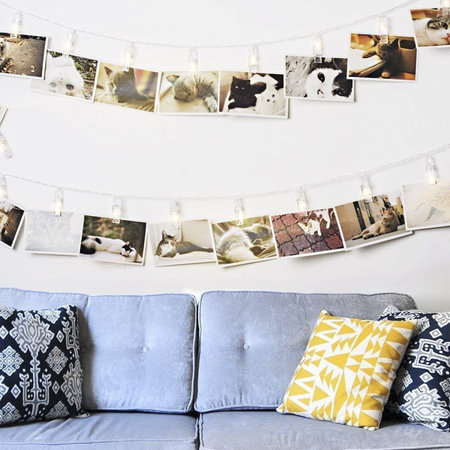 20 Led Photo Clips String Lights