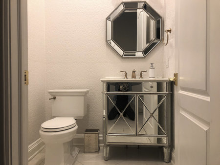 Upstairs Powder Room