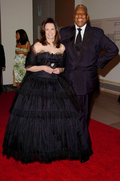 Patricia Altschul at the Met Gala with André Leon Talley