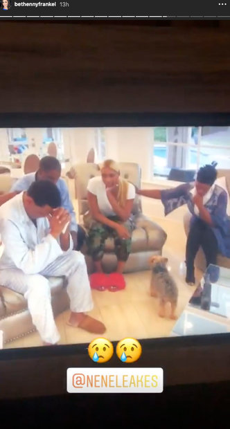 Bethenny Frankel watches Gregg Leakes in Season 11 of The Real Housewives of Atlanta