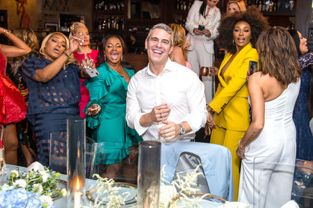 Phaedra Parks with Real Housewives at Andy Cohen's Baby Shower