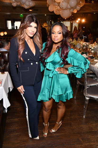 Teresa Giudice and Phaedra Parks at Andy Cohen's Baby Shower