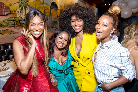 Marlo Hampton, Phaedra Parks, Cynthia Bailey, Eva Marcille at Andy Cohen's Baby Shower