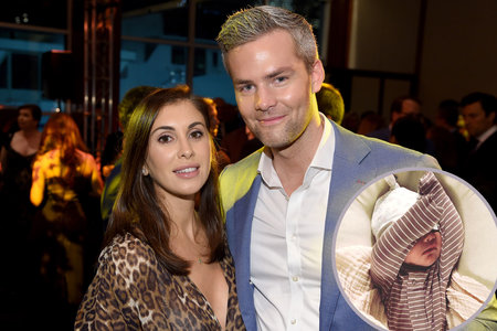 Emilia Bechrakis and Ryan Serhant with Baby Girl Zena