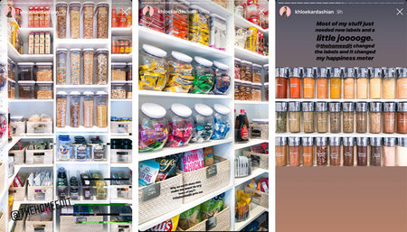 Khloe Kardashian Instagram Pictures: The Home Edit Pantry