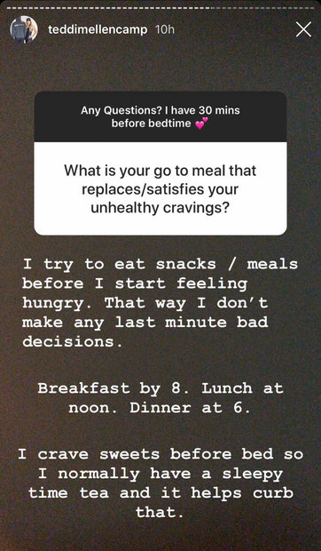 Real Housewives of Beverly Hills Teddi Mellencamp Arroyave Diet Tips on Instagram