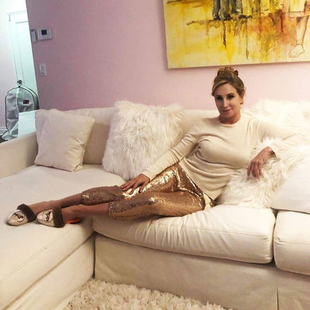 sonja morgan sequin joggers
