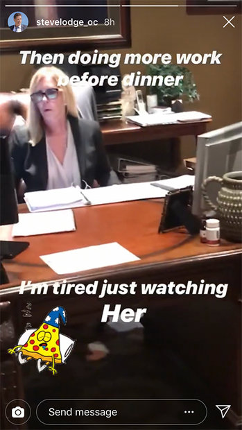 Vicki Gunvalson at Work