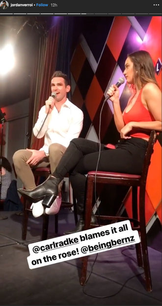 Hannah Berner and Carl Radke at Carolines on Broadway