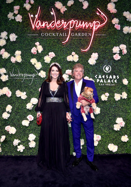 Lisa Vanderpump and Ken Todd at Vanderpump Cocktail Garden