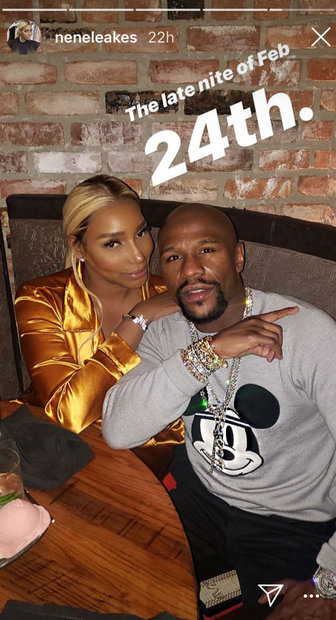 Nene Leakes at Floyd Mayweather's Birthday Party in Los Angeles