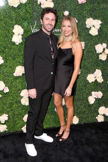 Stassi Schroeder and Beau Clark at Vanderpump Cocktail Garden